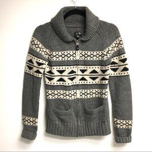 ARITZIA Tna Sea to Sky Wool Zip Cardigan Sweater M